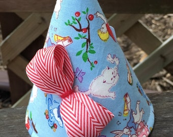 Kid's Fabric Party Hat (vintage child print)
