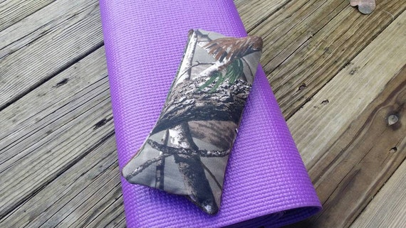 Yoga Eye Pillow / Relaxing Eye Pillow Camouflage cover /  yoga accessories / Meditation Eye Pillow with camo cover, Nap pillow/ yoga gift