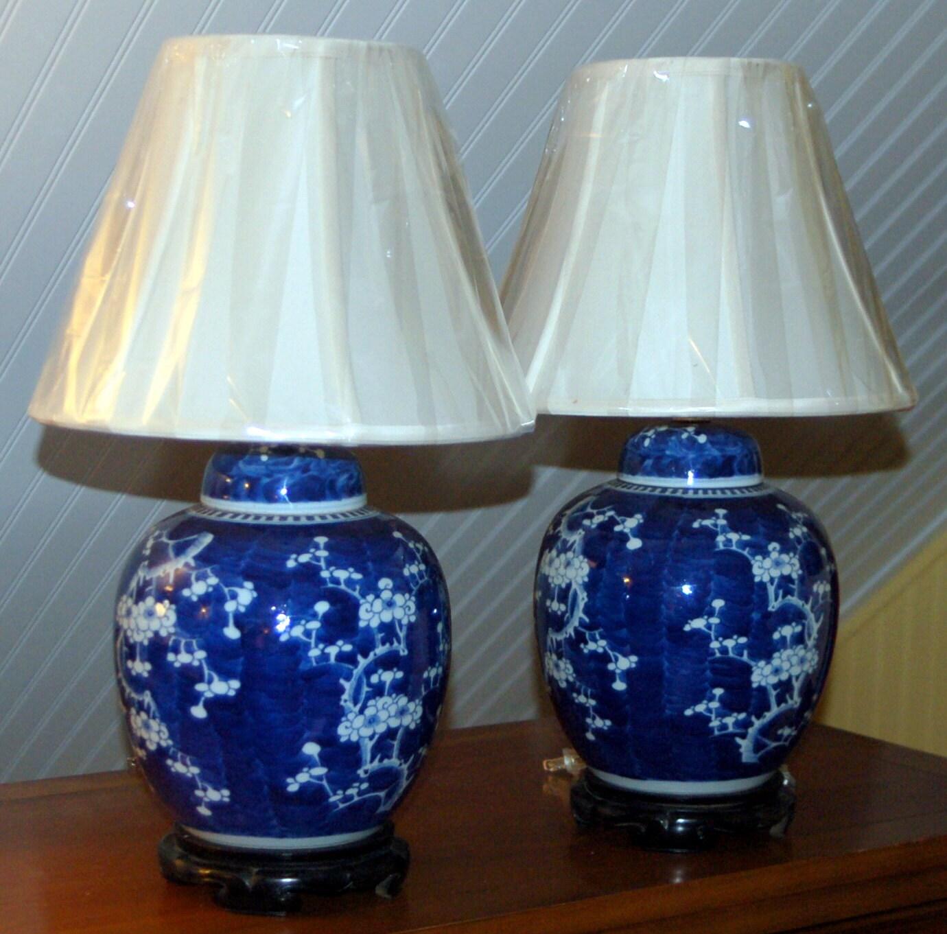 Pair Antique Chinese Blue Amp White Hawthorn By Tenhillsasianart