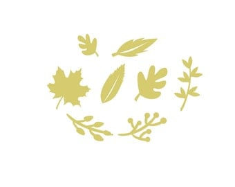 Leaves decal, Autumn stickers, Autumn decals, nature decal, wall decals, cute decals, window decals