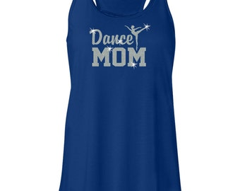 Dance Mom Dancing Glitter Dancer Women's Flowy Royal Racerback Tank Top
