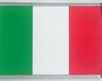 Italy Country Flag Jumbo Acrylic Fridge Magnet