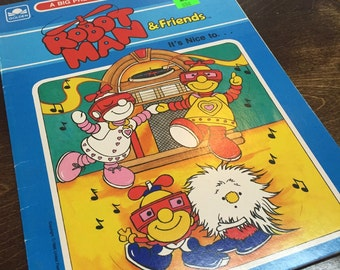 1985 Robot Man & Friends Coloring Book-Never used!