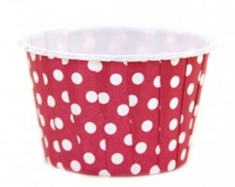Red Polka Dot Candy Cups (8 per pack)