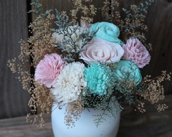 Pink and Mint Centerpiece
