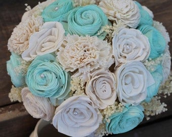 Mint and Cream Bouquet