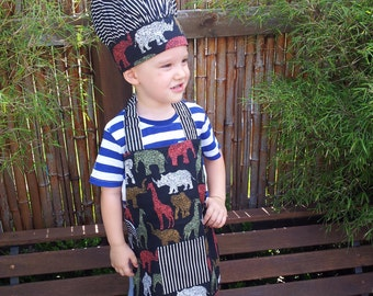 Childs Chef Hat and Apron Set