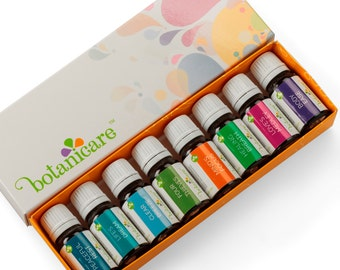 Aromatherapy Essential Oil Blends Gift Set Includes 8 100% Pure Therapeutic Grade 10ml/.33oz bottles with pipette (dropper)