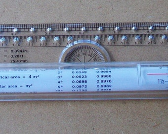 Drafting Architectural Rolling Ruler - Compass, Protractor, T-Square