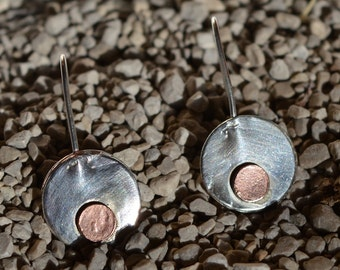 sterling silver earrings, silver 925 earring, geometric contemporary modern metalsmith, minimalist earrings, handcrafted, unique, handmade