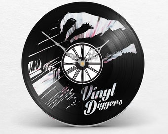 Clock discs vinyl two layers black & marble / / digger vinyl