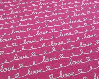 Patchwork fabric - Love