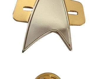 Star Trek Voyager Communicator Half Size Metal Pin Uniform Cloisonne Pin Costume Accessory