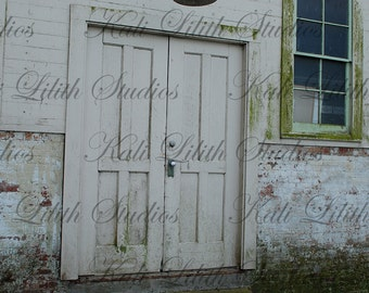 Rustic Building/Digital Backdrop/Wood doors/Digital Background/Background Stock/Instant Download/