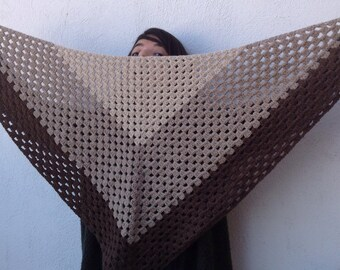 Triangular scarf xxl