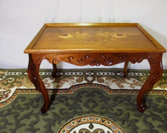 Perfect Restored Vinage Inlay Top Coffee/Tea Table