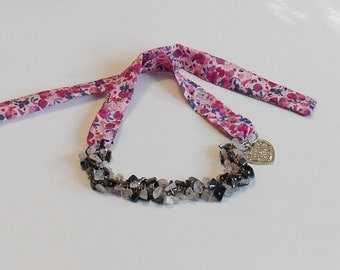 Jewel for Dog made in France. The jewel Tinou Bijou pink flower
