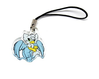 SKYE THE GRIFFON Mythological Mini griffon charm griffon pendant griffon jewelry fantasy charm kawaii charm cell phone charm cute charm
