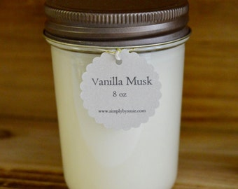 Vanilla Musk Soy Candle