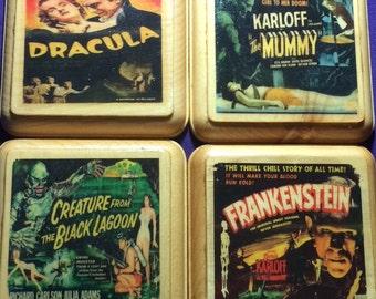 Classic Horror Movie Coaster Set