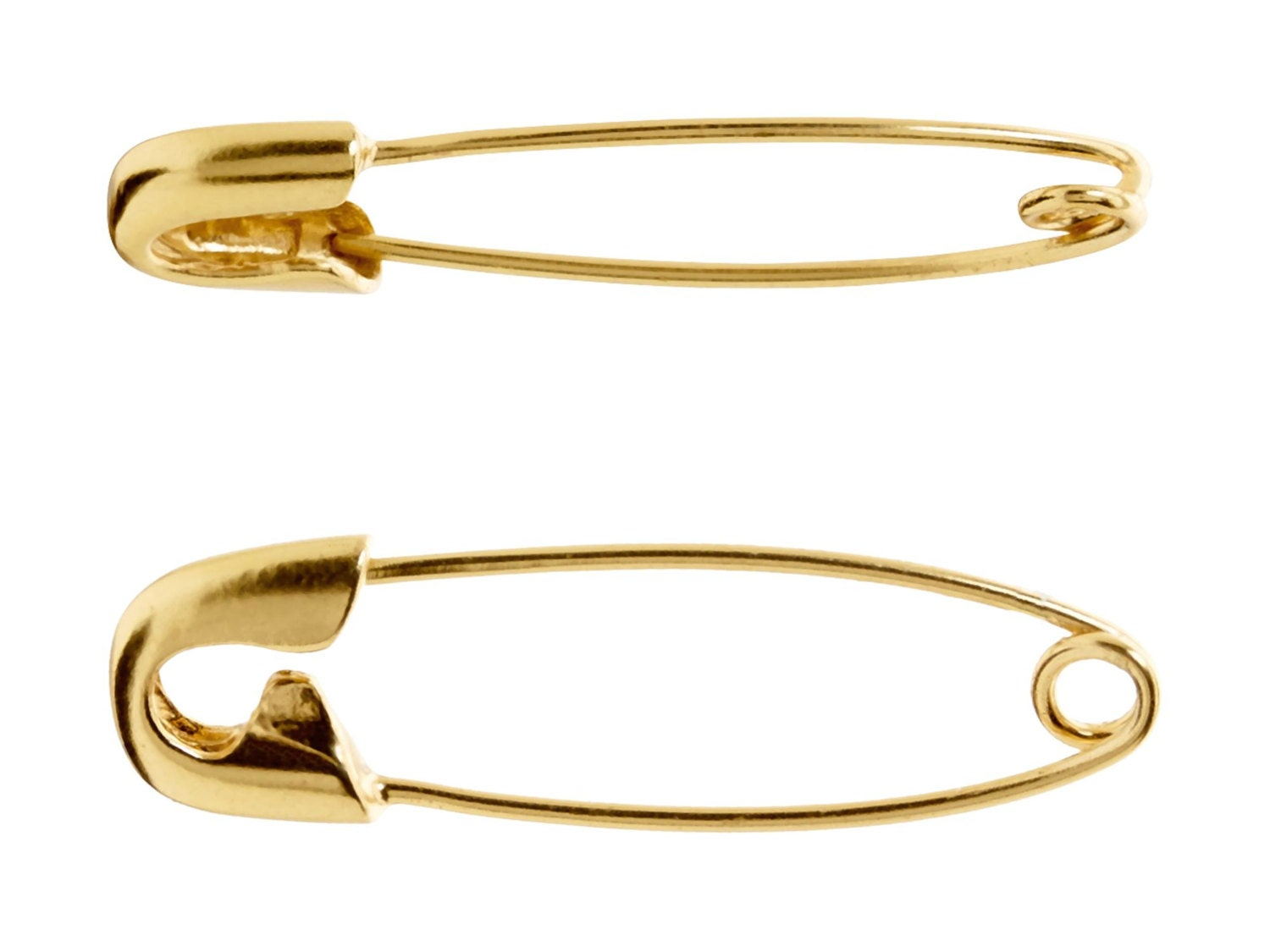 1 25 Inch Gold Safety Pin Earringscartilage Earringsgift For