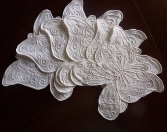 Sale! 20% off 6 Whitework Butterfly Appliques