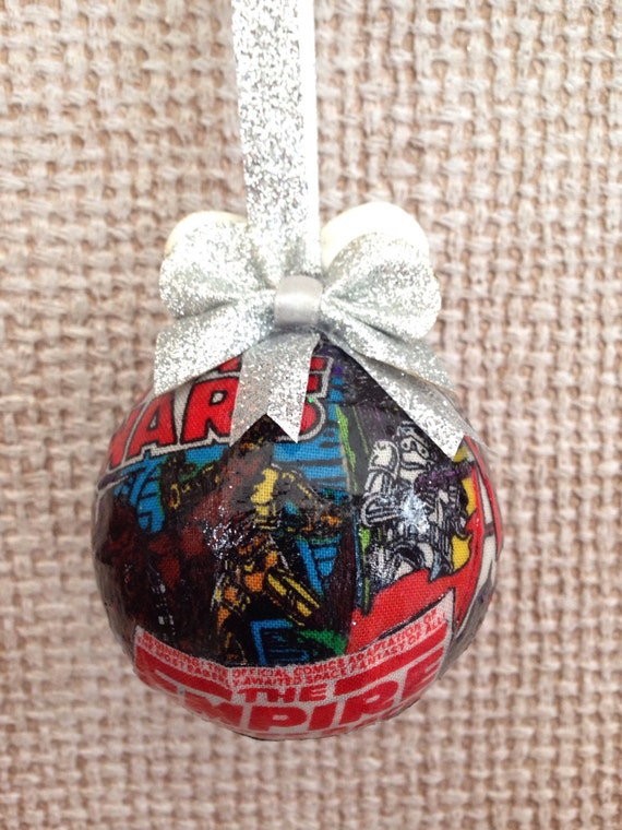 Star Wars Fabric Decoupage Christmas Ornament