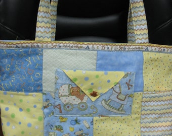 Tote Bag - Baby Themed Blue