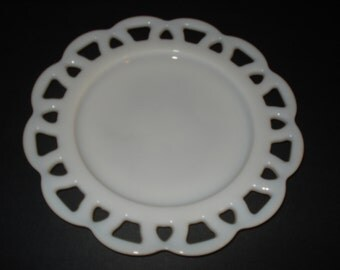 SALE - Anchor Hocking Lace Edge Salad Plate