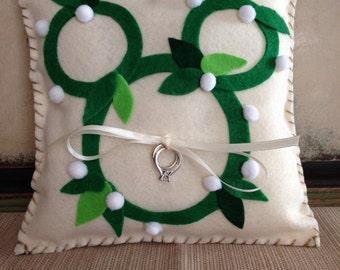 Disney Wedding Ring Bearer Pillow - Ready to Ship!