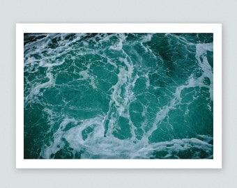 Swirling Ocean Waves Fine Art Print