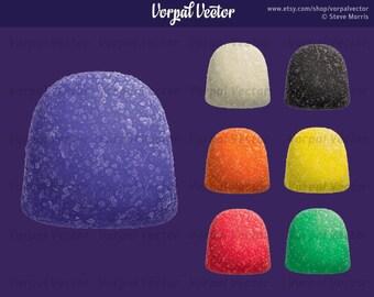 Gumdrop Clip Art  Photorealistic Illustration Candy Clipart Gum Drop - Instant Download