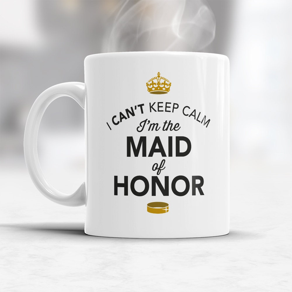 Maid Of Honor Gift Wedding Mug Funny Wedding Gift Maid Of