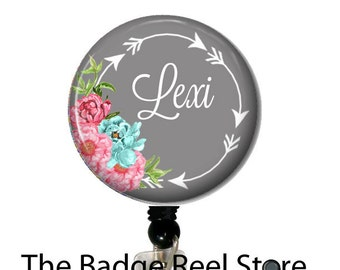 Name Badge Holder, Retractable ID Badge Holder - Preppy - Arrows - Name Tag