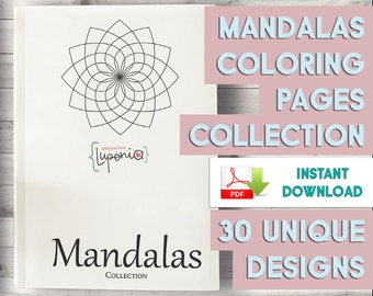 Mandalas Coloring Pages Collection - All 30 Coloring Pages - Beautiful Printables Book