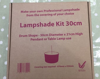 Lampshade Kit Make Your Own - Gift / present idea - Drum shade either 20cm / 30cm - DIY / Craft / Interiors