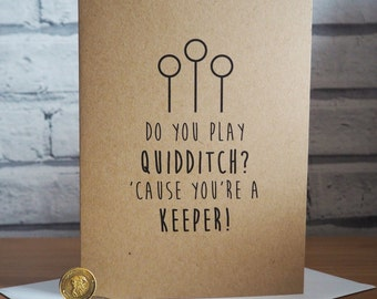 Harry Potter Inspired Quidditch Card