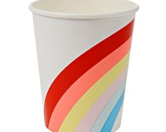Rainbow Paper Cups / ice cream party / yogurt cups /  snack cups / candy cups / meri meri