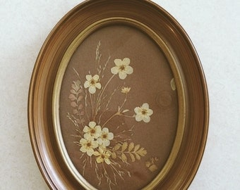 Vintage Dried Strawberry Blossom Wall Hanging