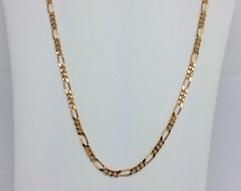 18K Solid Yellow Gold Figaro Chain