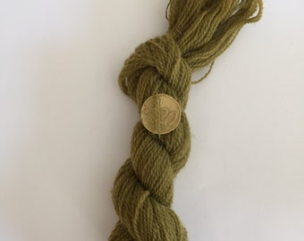 100% green vegetable dye wool