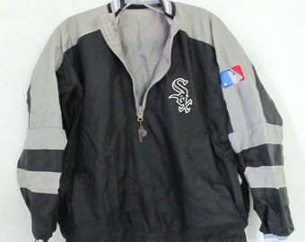 A Boy's Vtg 90's REVERSIBLE White SOX Pull Over WINDBREAKER By Pro Player.L (As Is)