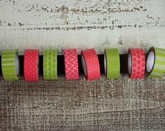 Washi paper tape! (set of 8)