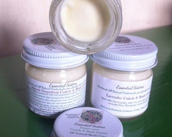 Cuticle Cream, Hand & Body Lotion. All natural Cuticle Creme - Moisturizer -  1.2 ounce jar
