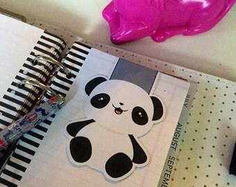 Magnetic bookmarks | Kawaii happy panda