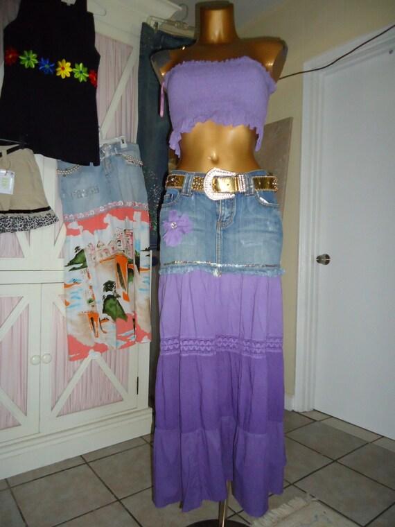 Recycled Denim Skirt 8