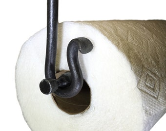 Metal Paper Towel Holder Round Bar Under Cabinet Mount