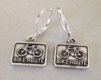 Bike Route Earrings