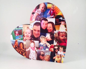 20cm Photo Heart / Photo Collage / Heart Collage / Photo Gift / Personalised gift /
