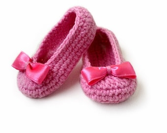 Baby Slippers Crochet Pattern, Baby Booties, Baby Girl Shoes N.101
